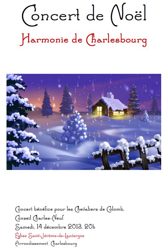 Affiche Concert Noël 14 décembre 2013