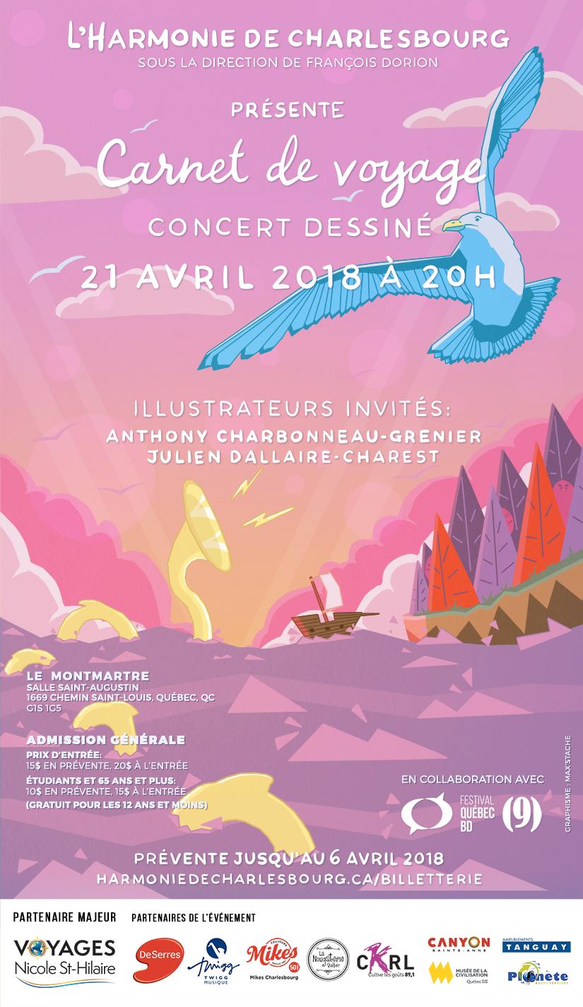 Poster carnet de voyages - finale 16h15 2 mars